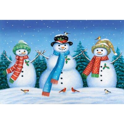 Snowman Family Doormat