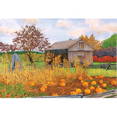 Bynoe Pumpkins and Cornstalks Doormat