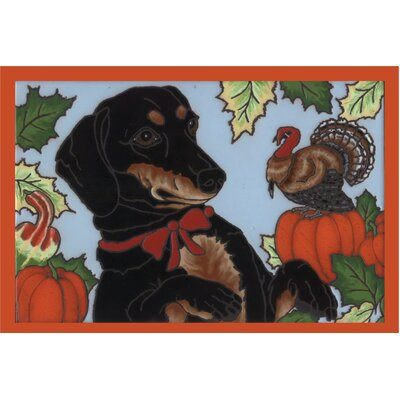 Math Dachshund Thanksgiving Doormat