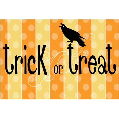Trick or Treat Raven Doormat