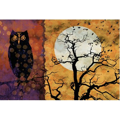 Owl and Moon Doormat