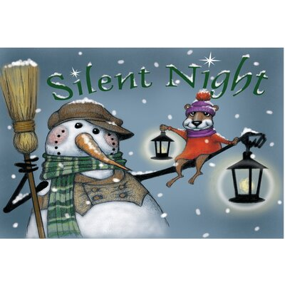 Silent Night Lights Doormat