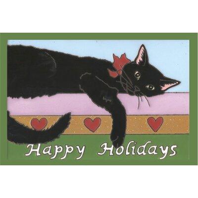 Happy Holiday Kitty Doormat
