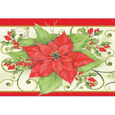 Christmas Flower Doormat