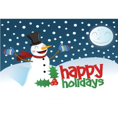 Snowman Happy Holidays Doormat