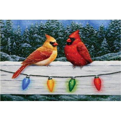 Christmas Cardinals Doormat