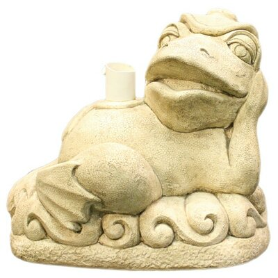 Reclining Frog Patio Umbrella Stand Color: Beige