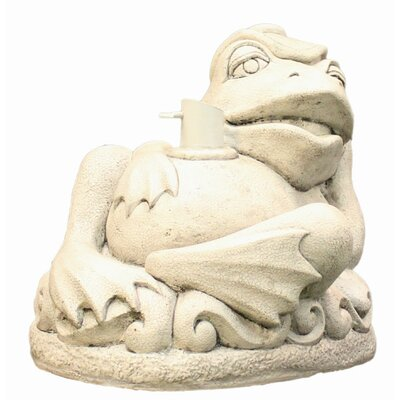 Reclining Frog Patio Umbrella Stand Color: Gray