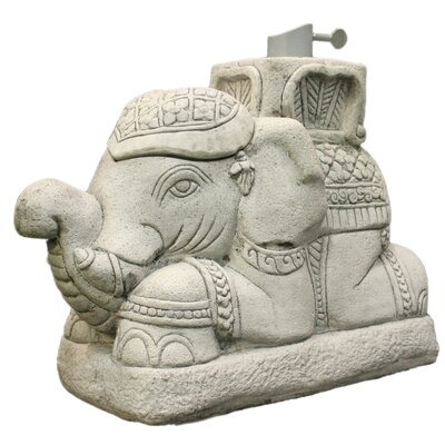 Raja Elephant Patio Umbrella Stand Color: Gray
