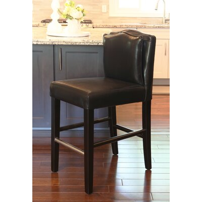 Cambria 30 Bar Stool Upholstery: Black