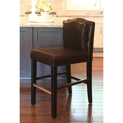 Cambria 30 Bar Stool Upholstery: Brown