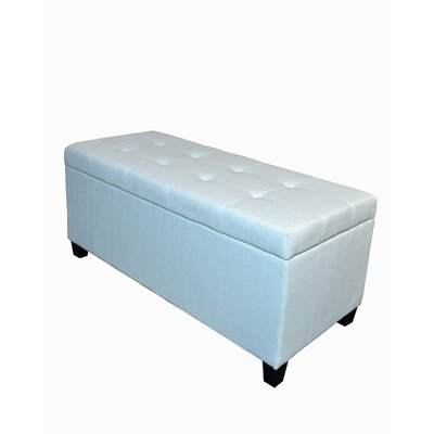 Trisha Shoe Stallion Storage Ottoman Upholstery: Light Blue