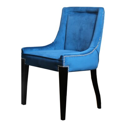 Giselle Castalina Side Chair Upholstery: Teal