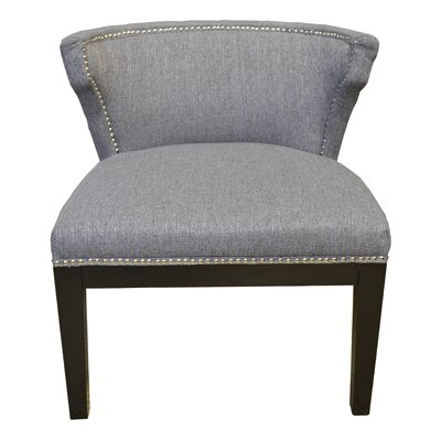 Kyra Stallion Side Chair Upholstery: Gray