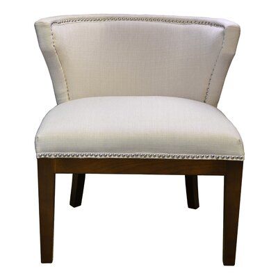 Kyra Stallion Side Chair Upholstery: Ivory