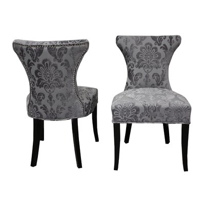 Careen Side Chair Upholstery: Gray