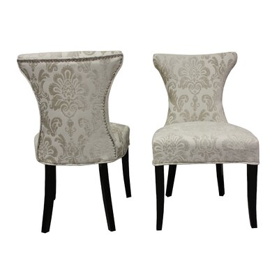 Careen Side Chair Upholstery: Cream
