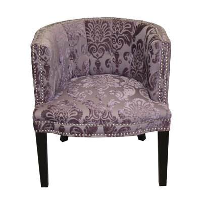 Holzer Plum Fan Damask Barrel Chair