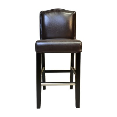 Cambria 30.5 Bar Stool Upholstery: Brown