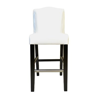 Cambria Pillowback Genuine Leather Upholstered Dining Chair Upholstery: White
