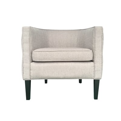 Lulu Barrel Chair Color: Taupe