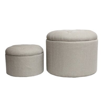Nested Shoe 2 Piece Storage Ottoman Set