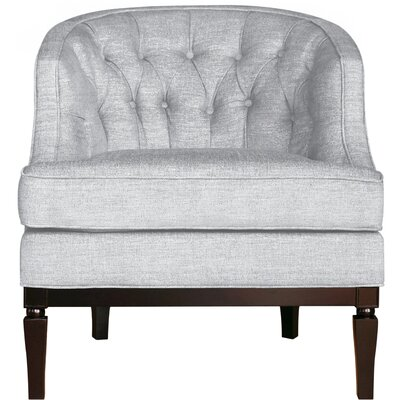 Ashley Barrel Chair Upholstery: White Gold