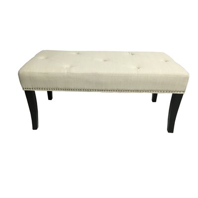 Stallion Linen Bedroom Bench Upholstery Color: Ivory