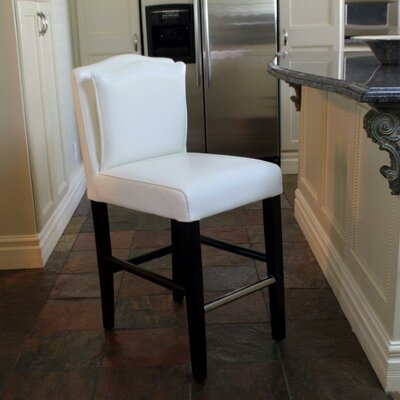 Cambria 30.5 Bar Stool Upholstery: White
