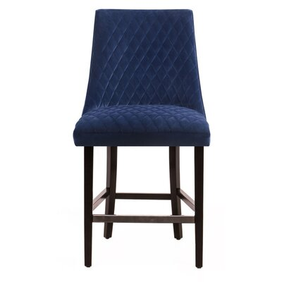 Arlene 25 Bar Stool Upholstery: Blue