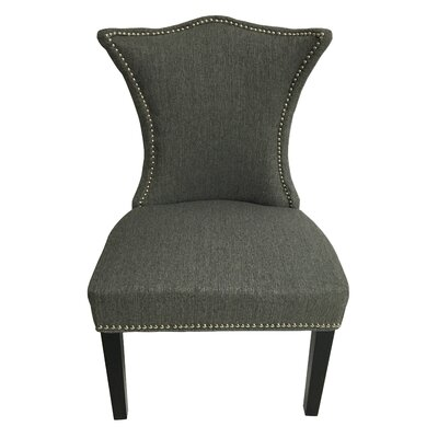 Linda Stallion Side Chair Upholstery: Gray