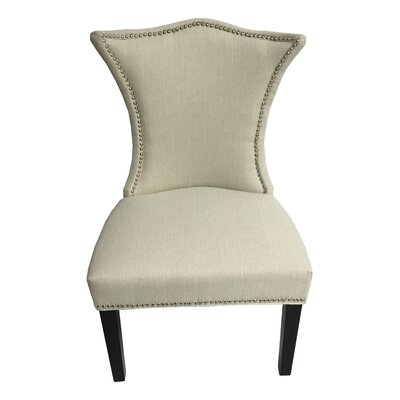Linda Stallion Side Chair Upholstery: Ivory