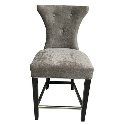 Careen Tufted Platinum Feather Side Chair