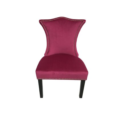 Shepherd Contemporary Upholstered Dining Chair Upholstery Color: Raspberry