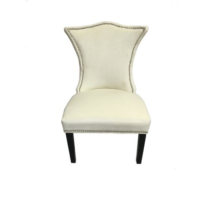 Shepherd Contemporary Upholstered Dining Chair Upholstery Color: Cream