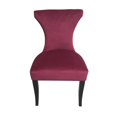 Careen Upholstered Dining Chair Upholstery Color: Raspberry