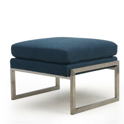 Riebe Ottoman Upholstery: Denim Blue