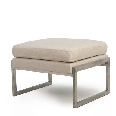 Riebe Ottoman Upholstery: Oatmeal