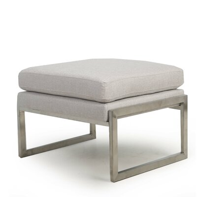 Riebe Ottoman Upholstery: Silver