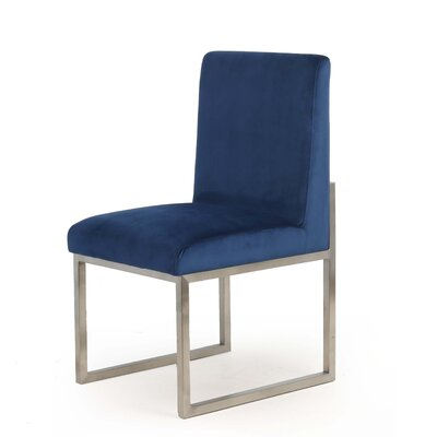 Caja Upholstered Dining Chair Upholstery Color: Blue