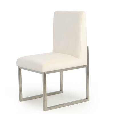 Caja Upholstered Dining Chair Upholstery Color: Cream