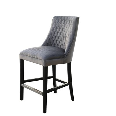 Arlene 25 Bar Stool Upholstery: Gray