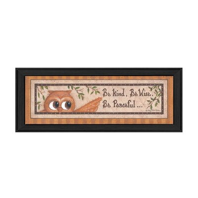 'Wise Owl' Framed Textual Art Print MARY428-405