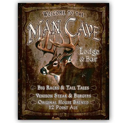 Man Cave by Ramson's Vintage Advertisement on Metal TNU425