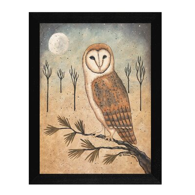 Barn Owl Framed Graphic Art Print On Canvas DNA363-276