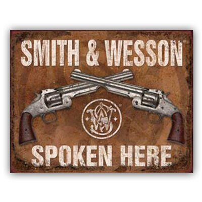 Smith & Wesson by Ramson's Vintage Advertisement on Metal TNU434