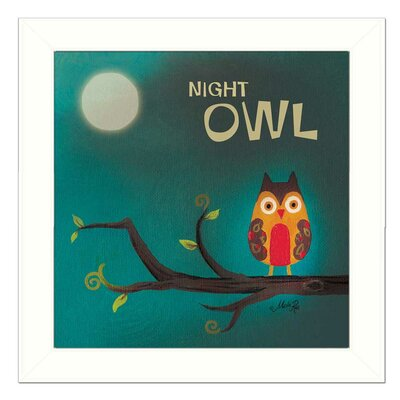 Night Owl Framed Graphic Art Print on Canvas MA136-712W