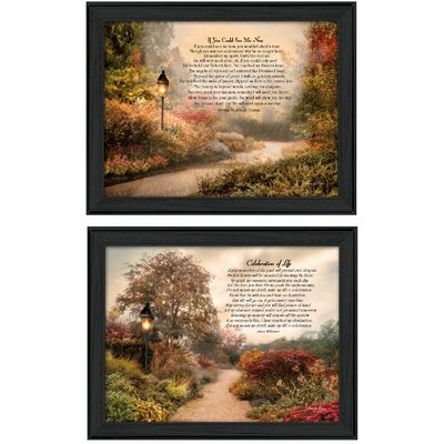 Celebration of Life and If You Could See Me Now 2 Piece Framed Graphic Art Print Set V325-405