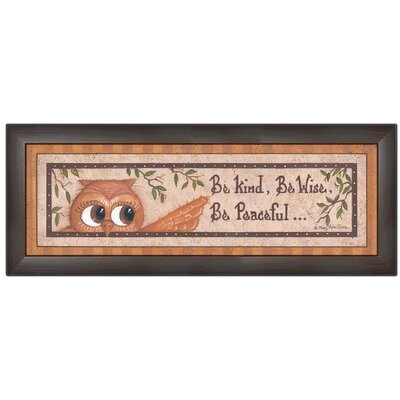 'Wise Owl' Framed Textual Art Print MARY428-636MB