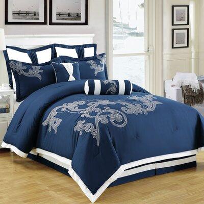 Sela 8 Piece Comforter Set Size: King
